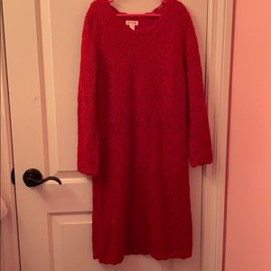 A red Christmas dress